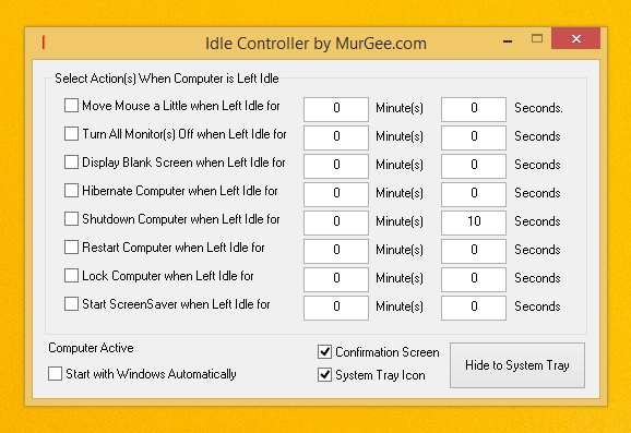Idle Windows Computer Controller Software
